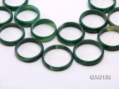 wholesale 50mm green ring-shaped agate loose strings GAG138 Image 1