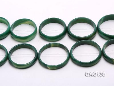 wholesale 50mm green ring-shaped agate loose strings GAG138 Image 2