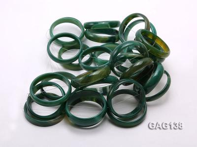 wholesale 50mm green ring-shaped agate loose strings GAG138 Image 3