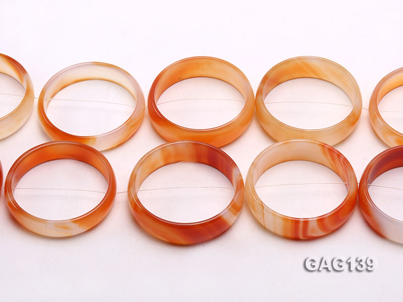 wholesale 50mm red ring-shaped agate loose strings big Image 2