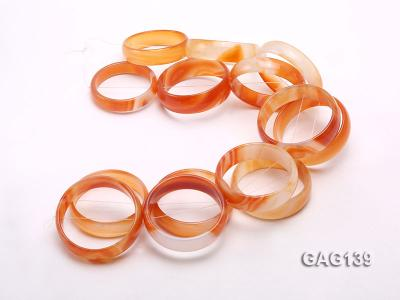 wholesale 50mm red ring-shaped agate loose strings GAG139 Image 3