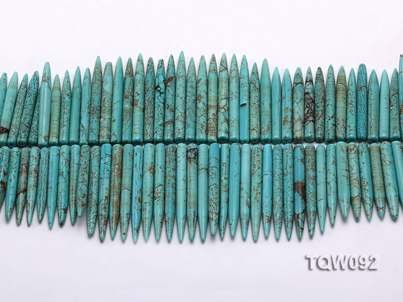 Wholesale 5x25mm-5x50mm Needle-shaped Blue Turquoise Sticks String big Image 2