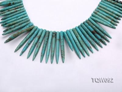 Wholesale 5x25mm-5x50mm Needle-shaped Blue Turquoise Sticks String TQW092 Image 1