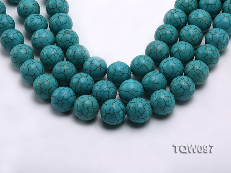 Wholesale 20mm Round Blue Turquoise Beads String big Image 1
