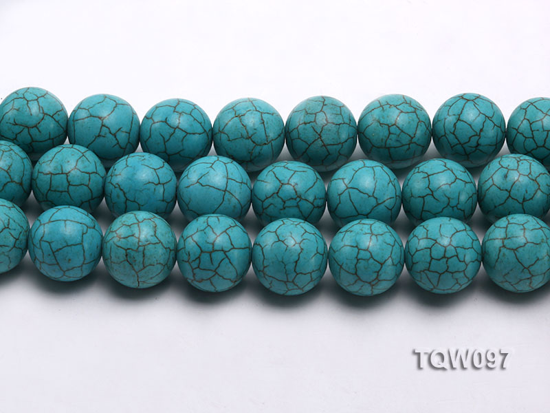Wholesale 20mm Round Blue Turquoise Beads String big Image 2