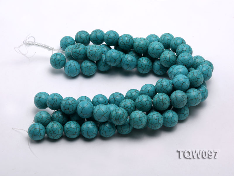 Wholesale 20mm Round Blue Turquoise Beads String big Image 3