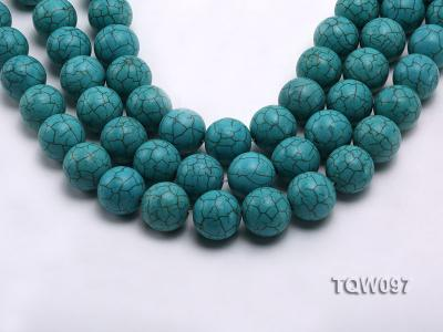 Wholesale 20mm Round Blue Turquoise Beads String TQW097 Image 1