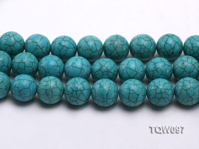 Wholesale 20mm Round Blue Turquoise Beads String TQW097 Image 2