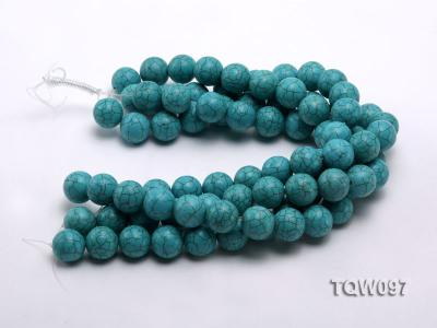 Wholesale 20mm Round Blue Turquoise Beads String TQW097 Image 3