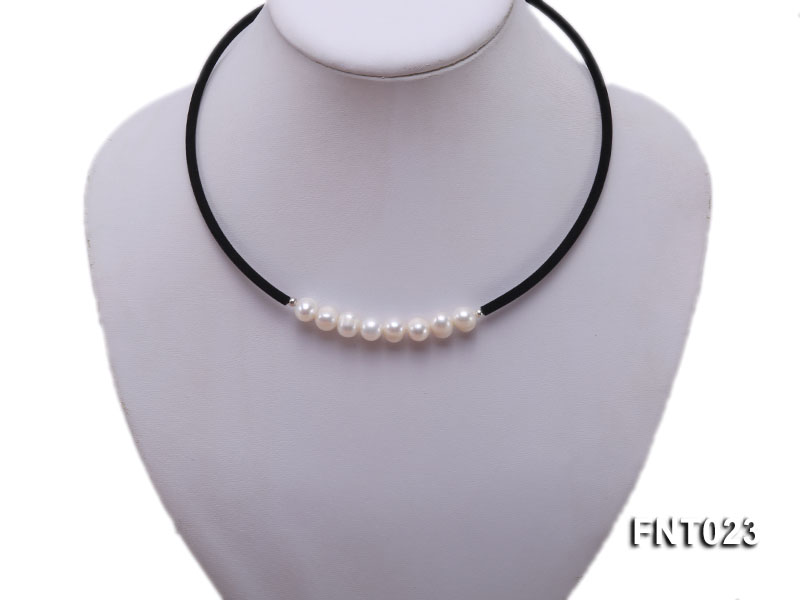 8-9mm White Cultured Freshwater Pearl Necklace and Bracelet big Image 2