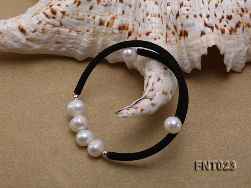 8-9mm White Cultured Freshwater Pearl Necklace and Bracelet big Image 3
