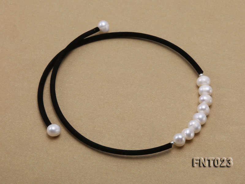 8-9mm White Cultured Freshwater Pearl Necklace and Bracelet big Image 4