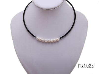 8-9mm White Cultured Freshwater Pearl Necklace and Bracelet FNT023 Image 2