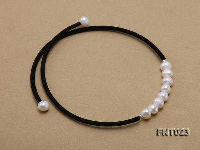 8-9mm White Cultured Freshwater Pearl Necklace and Bracelet FNT023 Image 4