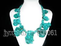 9-12mm blue irregular turquoise necklace TQN061