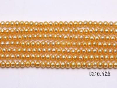 Wholesale 5mm Golden Round Freshwater Pearl String RPW125 Image 2