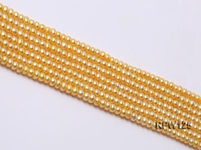 Wholesale 5mm Golden Round Freshwater Pearl String RPW125 Image 4
