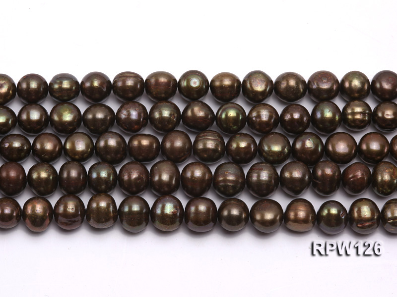 Wholesale 10-11mm Peacock Round Freshwater Pearl String big Image 2