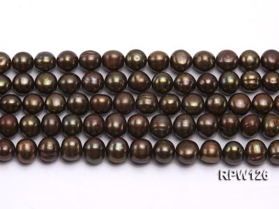 Wholesale 10-11mm Peacock Round Freshwater Pearl String RPW126 Image 2