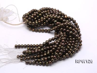 Wholesale 10-11mm Peacock Round Freshwater Pearl String RPW126 Image 3