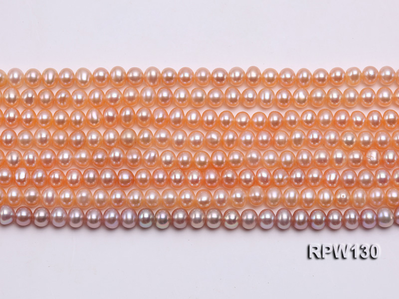 Wholesale 5mm Pink Round Freshwater Pearl String big Image 2