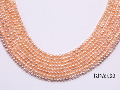 Wholesale 5mm Pink Round Freshwater Pearl String RPW130 Image 1