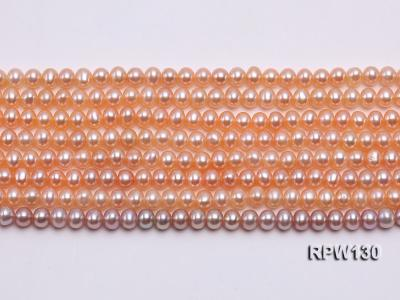Wholesale 5mm Pink Round Freshwater Pearl String RPW130 Image 2