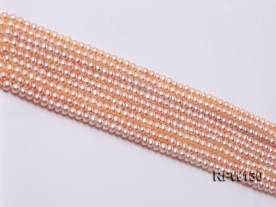 Wholesale 5mm Pink Round Freshwater Pearl String RPW130 Image 3