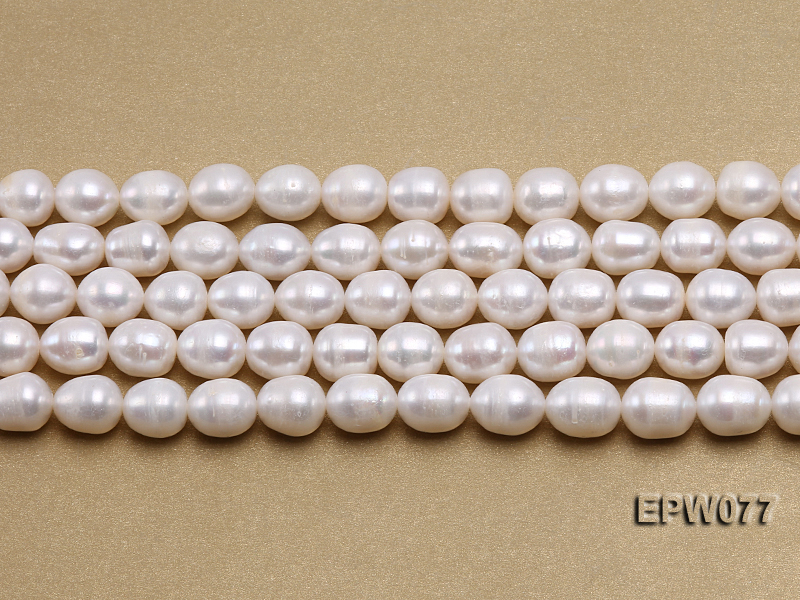 Wholesale 7x8mm A grade White Rice-shaped Freshwater Pearl String big Image 2