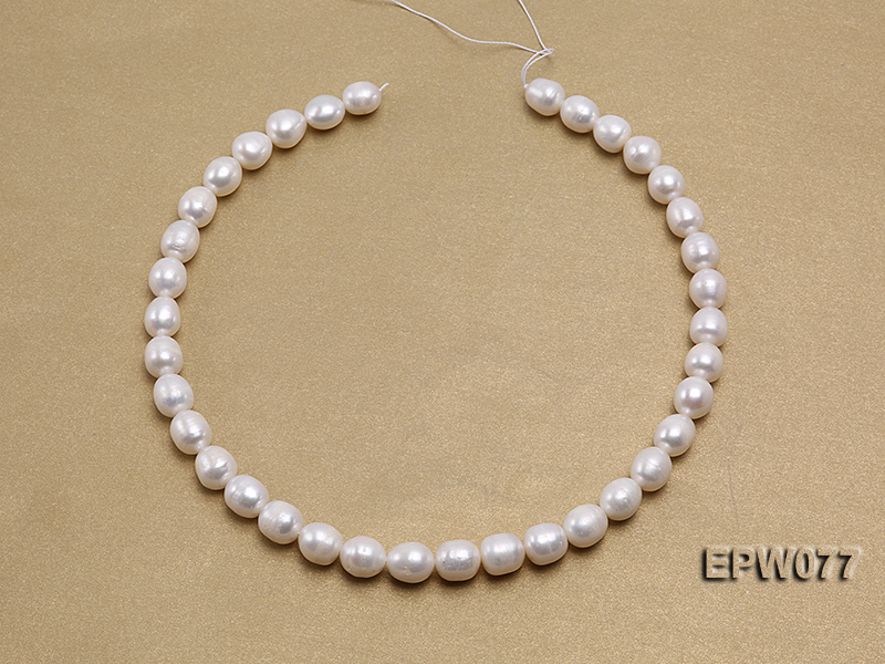 Wholesale 7x8mm A grade White Rice-shaped Freshwater Pearl String big Image 3