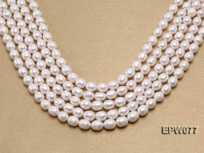 Wholesale 7x8mm A grade White Rice-shaped Freshwater Pearl String EPW077 Image 1