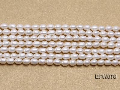 Wholesale 4.5x5.5mm Classic White Rice-shaped Freshwater Pearl String EPW078 Image 1
