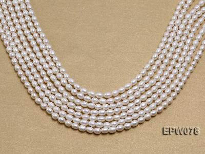 Wholesale 4.5x5.5mm Classic White Rice-shaped Freshwater Pearl String EPW078 Image 2