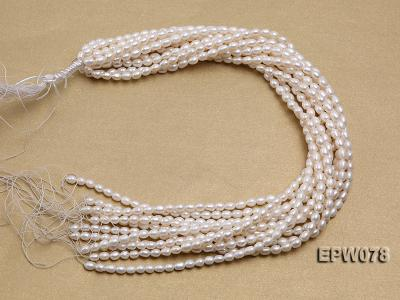 Wholesale 4.5x5.5mm Classic White Rice-shaped Freshwater Pearl String EPW078 Image 4