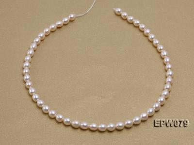 Wholesale 6.5X8mm White Rice-shaped Freshwater Pearl String EPW079 Image 2