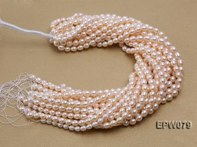 Wholesale 6.5X8mm White Rice-shaped Freshwater Pearl String EPW079 Image 3