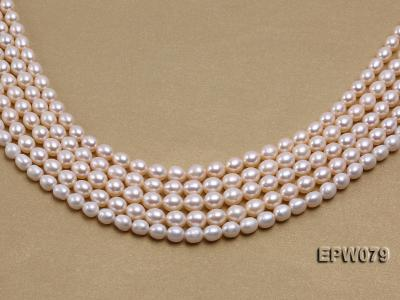 Wholesale 6.5X8mm White Rice-shaped Freshwater Pearl String EPW079 Image 4