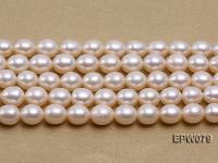 Wholesale 6.5X8mm White Rice-shaped Freshwater Pearl String EPW079