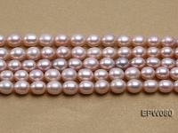 Wholesale 7x9mm Natural Lavender Rice-shaped Freshwater Pearl String EPW080