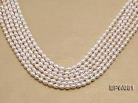 Wholesale High-quality 6x8.5mm Rice-shaped Freshwater Pearl String EPW081