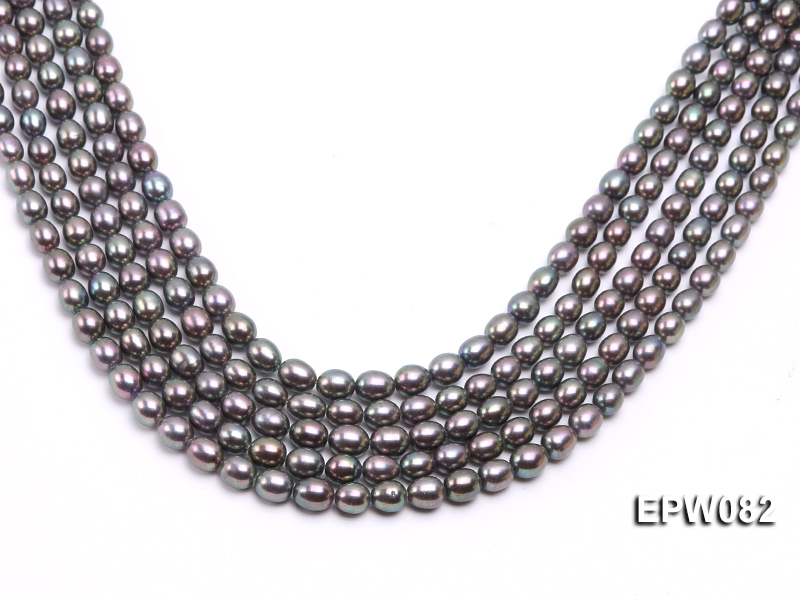 Wholesale High-quality 7x8mm  Rice-shaped Freshwater Pearl String big Image 1