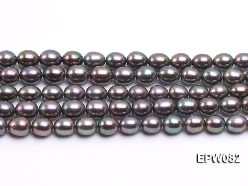 Wholesale High-quality 7x8mm  Rice-shaped Freshwater Pearl String big Image 2