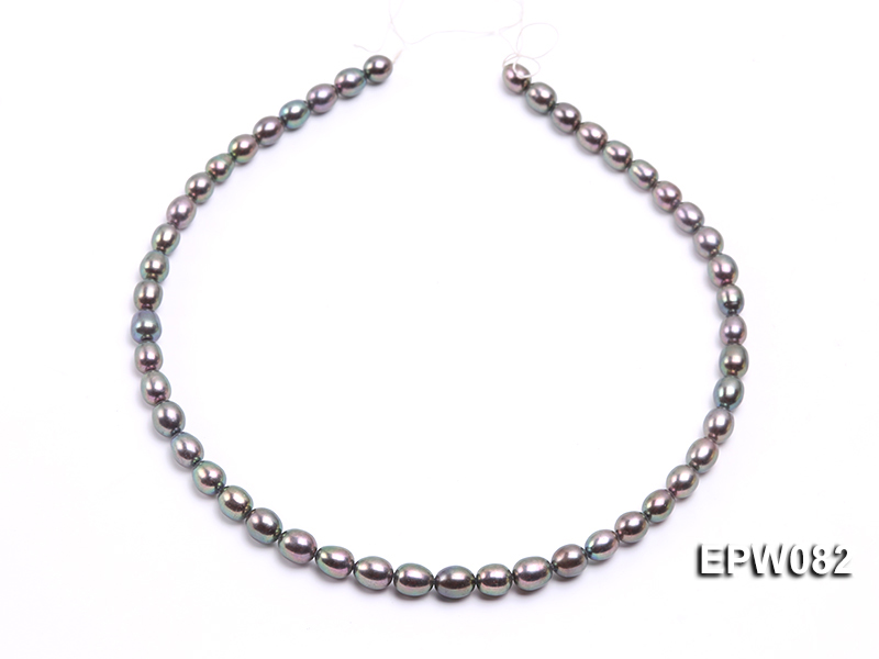 Wholesale High-quality 7x8mm  Rice-shaped Freshwater Pearl String big Image 3