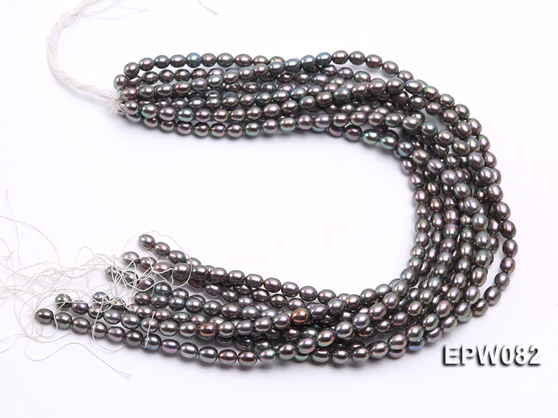 Wholesale High-quality 7x8mm  Rice-shaped Freshwater Pearl String big Image 4