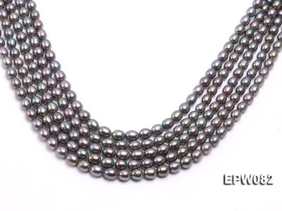 Wholesale High-quality 7x8mm  Rice-shaped Freshwater Pearl String EPW082 Image 1