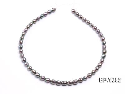 Wholesale High-quality 7x8mm  Rice-shaped Freshwater Pearl String EPW082 Image 3