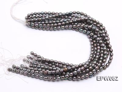 Wholesale High-quality 7x8mm  Rice-shaped Freshwater Pearl String EPW082 Image 4