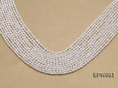 Wholesale 3x4.5mm white Rice-shaped Freshwater Pearl String EPW083 Image 1