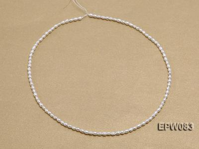 Wholesale 3x4.5mm white Rice-shaped Freshwater Pearl String EPW083 Image 3