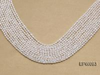 Wholesale 3x4.5mm white Rice-shaped Freshwater Pearl String EPW083